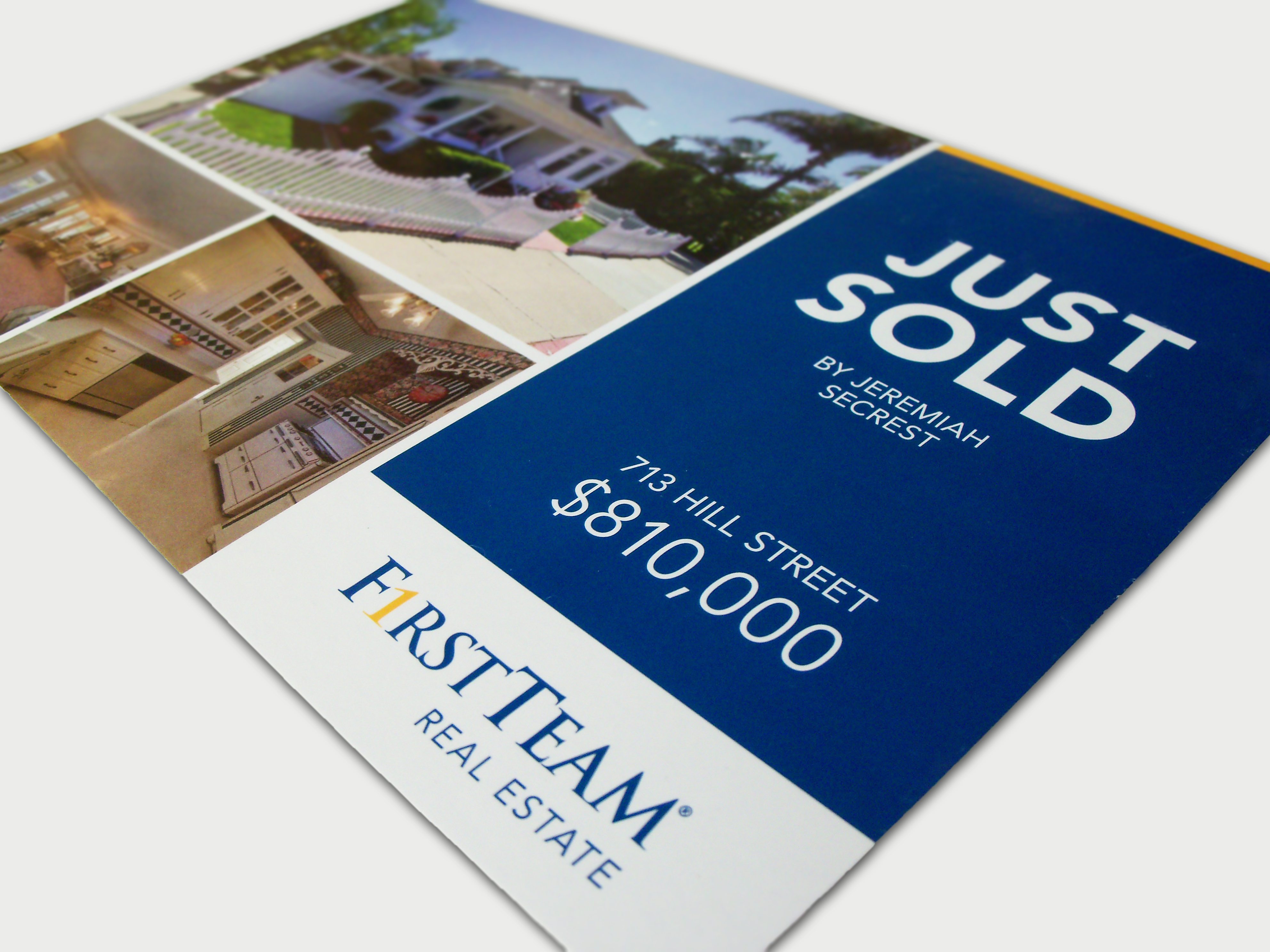 first team real estate portfolio website other variations of this campaign include door hangers and farming flyers multiple listings